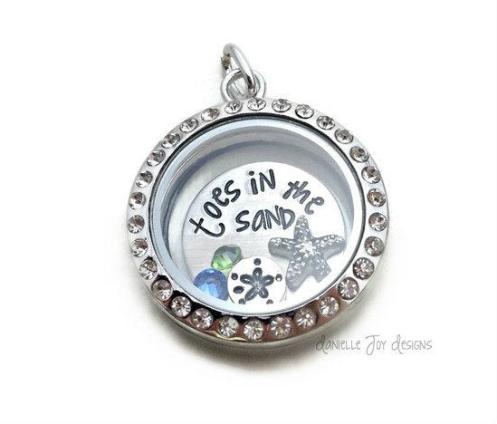 Toes In The Sand Glass Locket