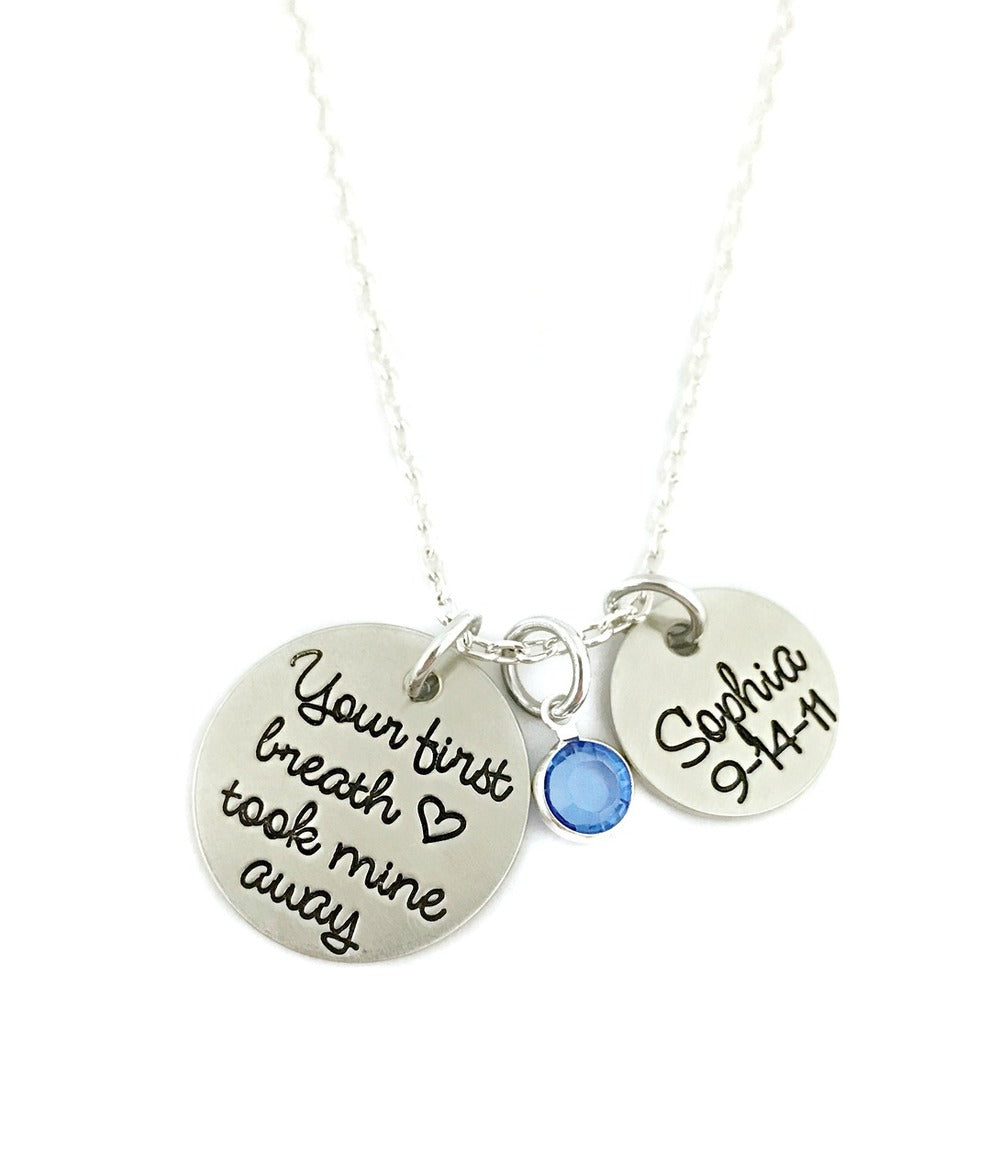 Your First Breath Took Mine Away Necklace