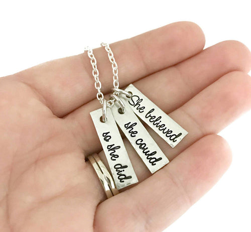 ORIGINAL She Believed She Could So She Did Necklace