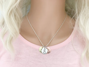 Personalized Initial & Date Necklace