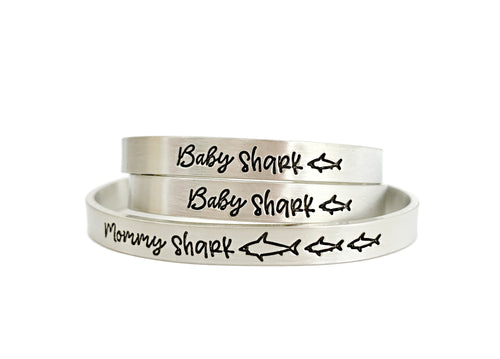 Mommy Shark and Baby Shark Cuff SET