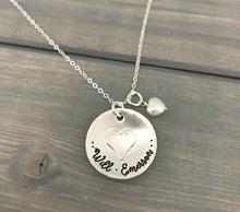 Load image into Gallery viewer, Name Necklace - Soldered Heart Sterling Silver