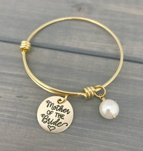 Load image into Gallery viewer, Mother of the Bride or Groom Gold Adjustable Bracelet