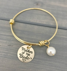 Mother of the Groom Gold Adjustable Bracelet
