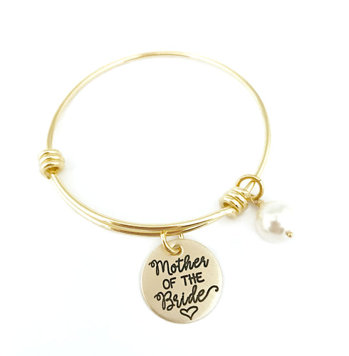 Mother of the Bride Gold Adjustable Bracelet