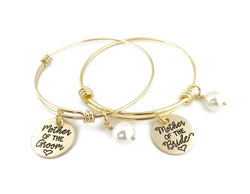 Mother of the Bride or Groom Gold Adjustable Bracelet