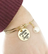 Load image into Gallery viewer, Mother of the Groom Gold Adjustable Bracelet