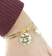 Load image into Gallery viewer, Mother of the Bride Gold Adjustable Bracelet