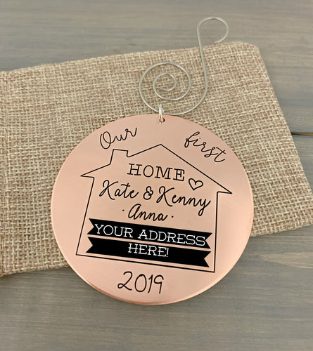 2019 Our First Home Christmas Ornament - Copper