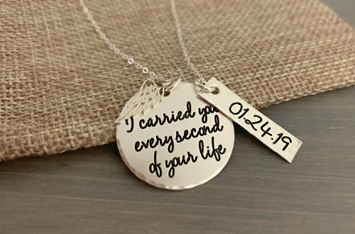 I Carried You - Sterling Silver Personalized Necklace