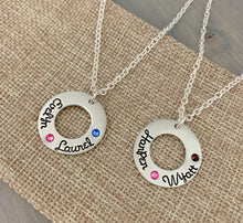Load image into Gallery viewer, Birthstone Washer Necklace