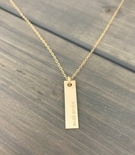 Load image into Gallery viewer, SOLID 14K GOLD Vertical Bar Necklace