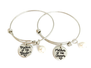 Mother of the Bride or Groom Adjustable Bracelet