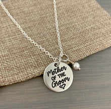 Load image into Gallery viewer, Mother of the Groom or Bride Necklace