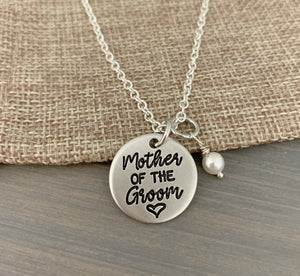 Mother of the Groom or Bride Necklace