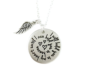 I Will Hold You In My Heart Until I Can Hold You In Heaven Spiral Necklace