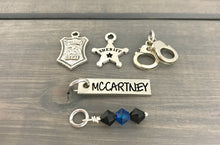 Load image into Gallery viewer, State Trooper Police Officer Firefighter Deputy Charm Bracelet