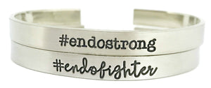 Endo Warrior Hashtag Cuff - #endowarrior - Endometriosis Awareness