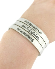 Load image into Gallery viewer, Endo Warrior Hashtag Cuff - #endowarrior - Endometriosis Awareness