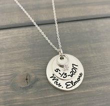 Load image into Gallery viewer, New Bride Wedding Gift Necklace
