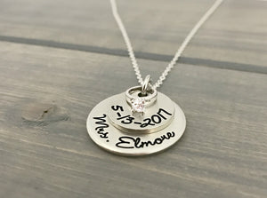 New Bride Wedding Gift Necklace