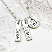Load image into Gallery viewer, Boy Mom - Girl Mom - My Kids - Mom Necklace