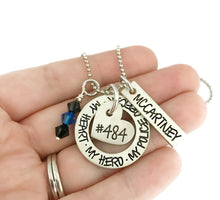 Load image into Gallery viewer, My Heart My Hero My Police Officer Necklace