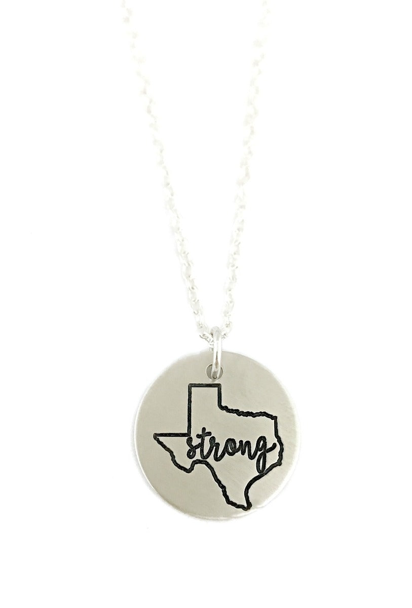 Hurricane Harvey Relief - Texas Strong - Pray For Texas - Texas is Home - Texas Rescue Animals Necklace