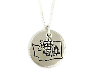 Tree Necklace - Nature Jewelry - Choose Your State - PNW Necklace