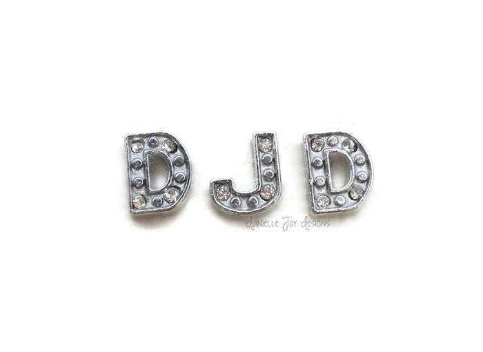 LOCKET CHARMS - Crystal Letters - Add Charms To Your Floating Locket