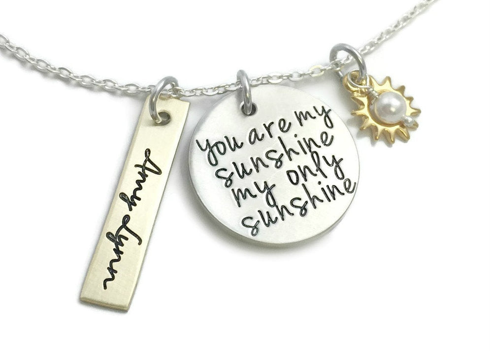 You Are My Sunshine My Only Sunshine Gold And Silver Necklace