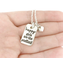 Load image into Gallery viewer, Happy Girls Are The Prettiest Rounded Bar Necklace