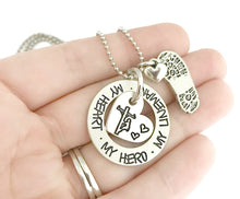 Load image into Gallery viewer, My Heart My Hero My Lineman Necklace