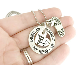 My Heart My Hero My Lineman Necklace