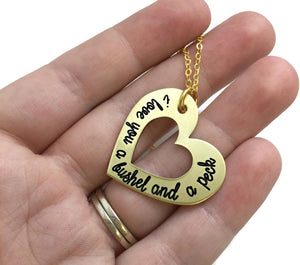 I Love You A Bushel And A Peck - Gold Heart Necklace