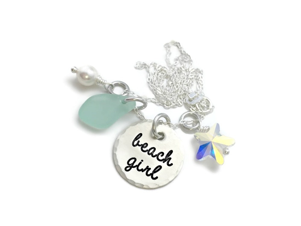 Beach Girl Sterling Silver Necklace