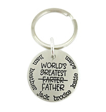 Load image into Gallery viewer, World's Greatest Farter Father Personalized Keychain