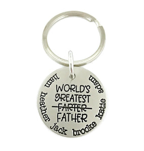 World's Greatest Farter Father Personalized Keychain