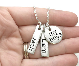 Boy Mom - Girl Mom - My Kids - Mom Necklace