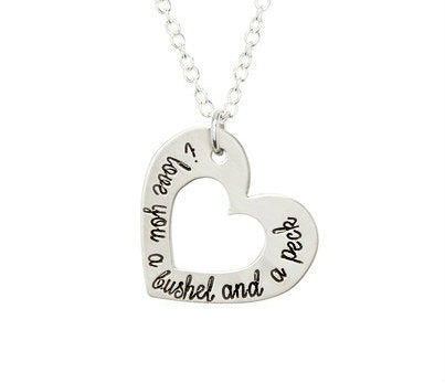 I Love You A Bushel And A Peck - Pewter Heart Necklace