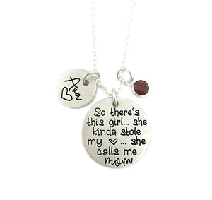 There's This Girl - She Calls Me Mom Necklace