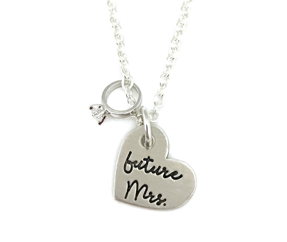 Future Mrs. Heart Necklace