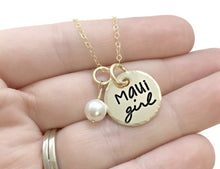 Load image into Gallery viewer, Maui Girl 14k Solid Gold Pearl Necklace