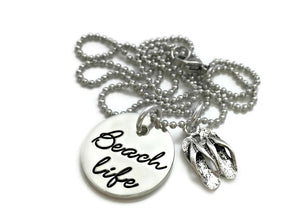 Beach Life Flip Flop Necklace