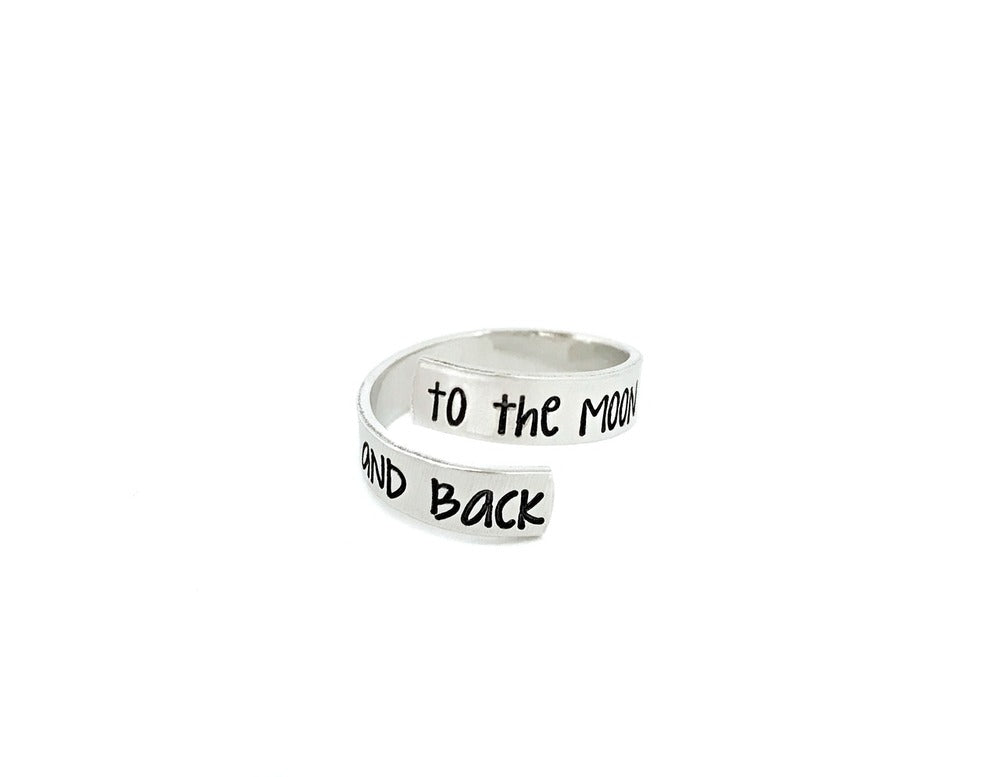 To The Moon and Back - Skinny Wrap Ring
