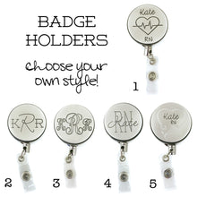 Load image into Gallery viewer, Personalized Retractable ID Badge Holders