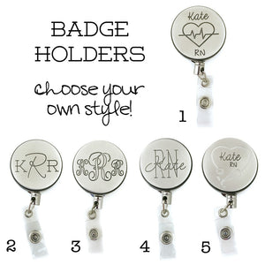 Personalized Retractable ID Badge Holders
