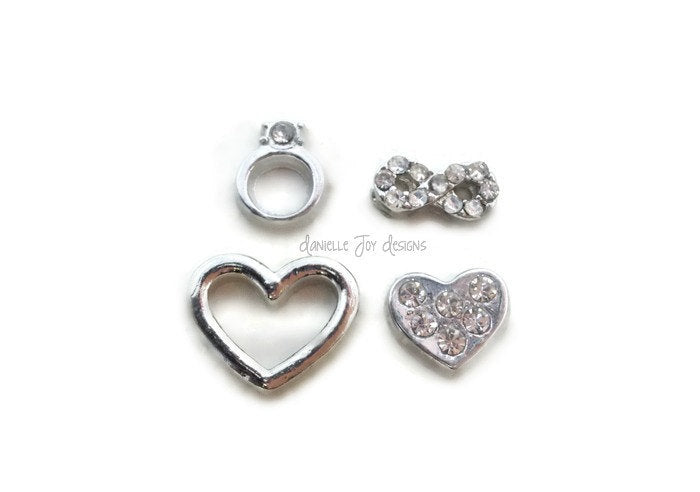LOCKET CHARMS - Love and Faith - Add Charms To Your Floating Locket
