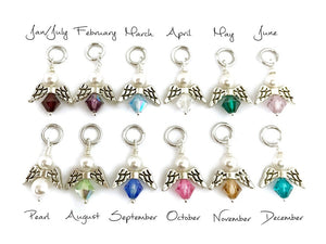 Birthstone Swarovski Crystal Angel Charms