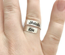 Load image into Gallery viewer, Sterling Silver Skinny Wrap Ring